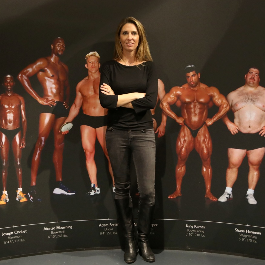REPORTAGE - NICE - MUSEE NATIONAL DU SPORT - EXPOSITION TEMPORAIRE - CORPS SPORTIFS